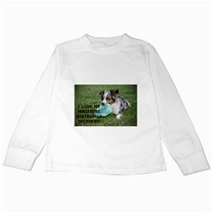Blue Merle Miniature American Shepherd Love W Pic Kids Long Sleeve T-Shirts
