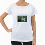 Blue Merle Miniature American Shepherd Love W Pic Women s Loose-Fit T-Shirt (White) Front
