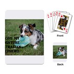 Blue Merle Miniature American Shepherd Love W Pic Playing Card Back