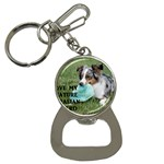 Blue Merle Miniature American Shepherd Love W Pic Bottle Opener Key Chains Front