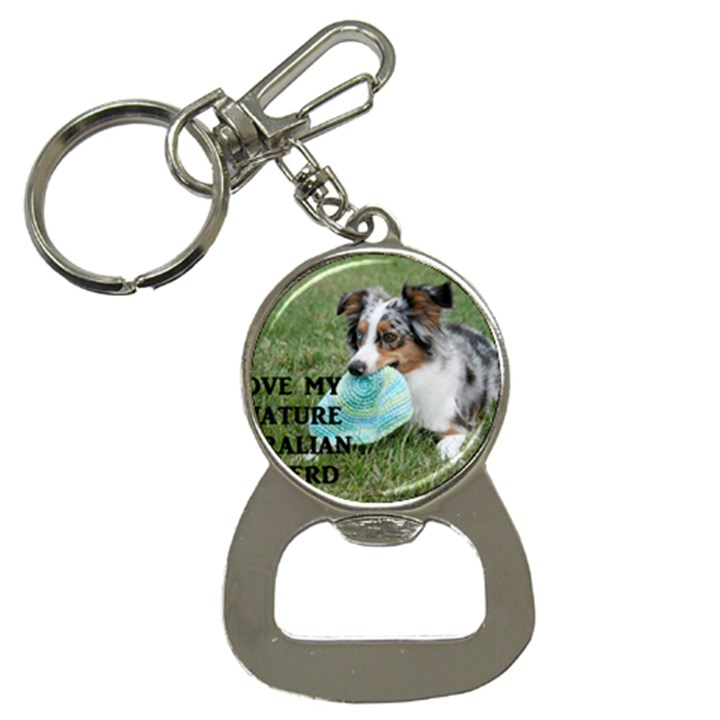 Blue Merle Miniature American Shepherd Love W Pic Bottle Opener Key Chains