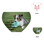 Blue Merle Miniature American Shepherd Love W Pic Playing Cards (Heart)  Front