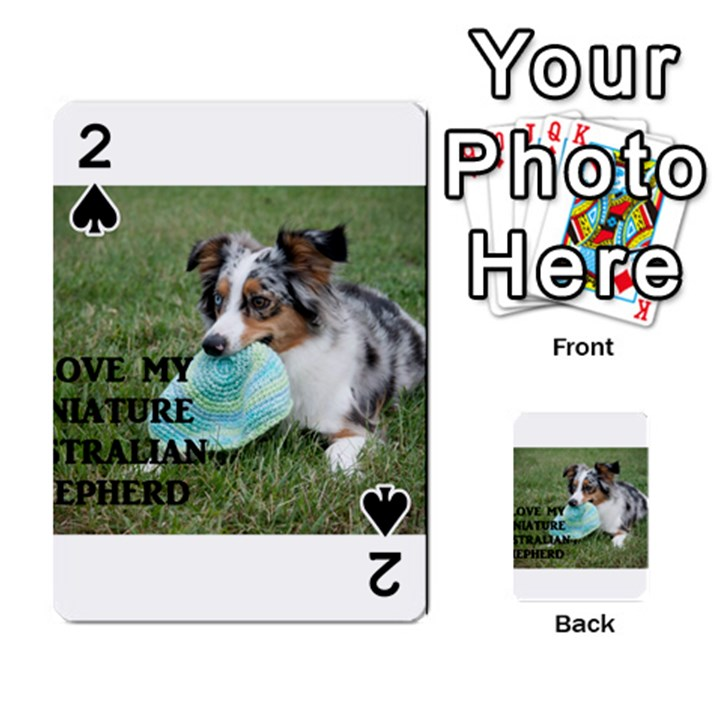 Blue Merle Miniature American Shepherd Love W Pic Playing Cards 54 Designs