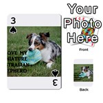 Blue Merle Miniature American Shepherd Love W Pic Playing Cards 54 Designs  Front - Spade3
