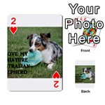 Blue Merle Miniature American Shepherd Love W Pic Playing Cards 54 Designs  Front - Heart2