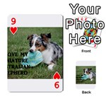 Blue Merle Miniature American Shepherd Love W Pic Playing Cards 54 Designs  Front - Heart9
