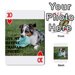 Blue Merle Miniature American Shepherd Love W Pic Playing Cards 54 Designs  Front - Heart10