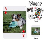 Blue Merle Miniature American Shepherd Love W Pic Playing Cards 54 Designs  Front - Diamond3