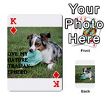 Blue Merle Miniature American Shepherd Love W Pic Playing Cards 54 Designs  Front - DiamondK