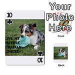 Blue Merle Miniature American Shepherd Love W Pic Playing Cards 54 Designs  Front - Club10