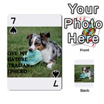 Blue Merle Miniature American Shepherd Love W Pic Playing Cards 54 Designs  Front - Spade7