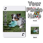 Blue Merle Miniature American Shepherd Love W Pic Playing Cards 54 Designs  Front - Joker1