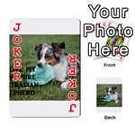 Blue Merle Miniature American Shepherd Love W Pic Playing Cards 54 Designs  Front - Joker2