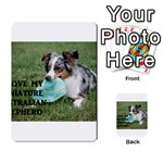 Blue Merle Miniature American Shepherd Love W Pic Playing Cards 54 Designs  Back
