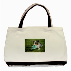 Blue Merle Miniature American Shepherd Love W Pic Basic Tote Bag