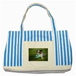 Blue Merle Miniature American Shepherd Love W Pic Striped Blue Tote Bag Front
