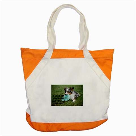 Blue Merle Miniature American Shepherd Love W Pic Accent Tote Bag