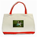 Blue Merle Miniature American Shepherd Love W Pic Classic Tote Bag (Red) Front