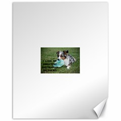 Blue Merle Miniature American Shepherd Love W Pic Canvas 16  x 20