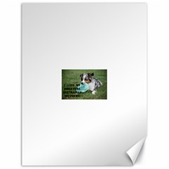 Blue Merle Miniature American Shepherd Love W Pic Canvas 18  x 24