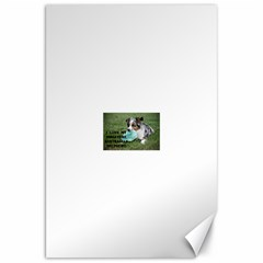 Blue Merle Miniature American Shepherd Love W Pic Canvas 20  x 30