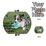 Blue Merle Miniature American Shepherd Love W Pic Playing Cards 54 (Round)  Front - SpadeK