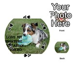 Blue Merle Miniature American Shepherd Love W Pic Playing Cards 54 (Round)  Front - SpadeA