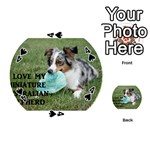 Blue Merle Miniature American Shepherd Love W Pic Playing Cards 54 (Round)  Front - Spade4