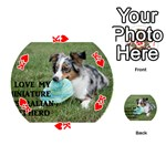 Blue Merle Miniature American Shepherd Love W Pic Playing Cards 54 (Round)  Front - HeartK