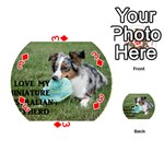 Blue Merle Miniature American Shepherd Love W Pic Playing Cards 54 (Round)  Front - Diamond3