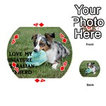 Blue Merle Miniature American Shepherd Love W Pic Playing Cards 54 (Round)  Front - Diamond4
