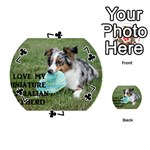 Blue Merle Miniature American Shepherd Love W Pic Playing Cards 54 (Round)  Front - Club7