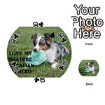 Blue Merle Miniature American Shepherd Love W Pic Playing Cards 54 (Round)  Front - Club10