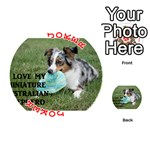 Blue Merle Miniature American Shepherd Love W Pic Playing Cards 54 (Round)  Front - Joker2
