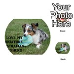 Blue Merle Miniature American Shepherd Love W Pic Playing Cards 54 (Round)  Back