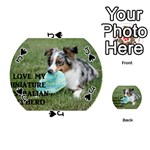 Blue Merle Miniature American Shepherd Love W Pic Playing Cards 54 (Round)  Front - SpadeJ
