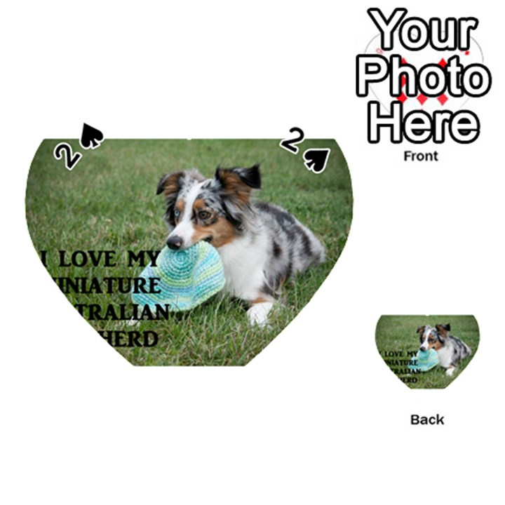 Blue Merle Miniature American Shepherd Love W Pic Playing Cards 54 (Heart)