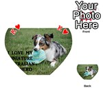 Blue Merle Miniature American Shepherd Love W Pic Playing Cards 54 (Heart)  Front - HeartK