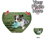 Blue Merle Miniature American Shepherd Love W Pic Playing Cards 54 (Heart)  Front - HeartA
