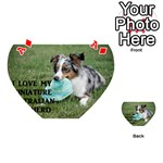 Blue Merle Miniature American Shepherd Love W Pic Playing Cards 54 (Heart)  Front - DiamondA