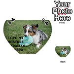 Blue Merle Miniature American Shepherd Love W Pic Playing Cards 54 (Heart)  Front - Club8