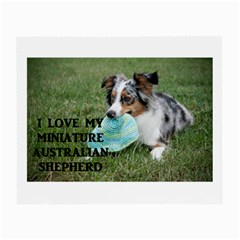 Blue Merle Miniature American Shepherd Love W Pic Small Glasses Cloth (2-Side)