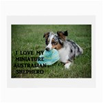 Blue Merle Miniature American Shepherd Love W Pic Small Glasses Cloth (2-Side) Back