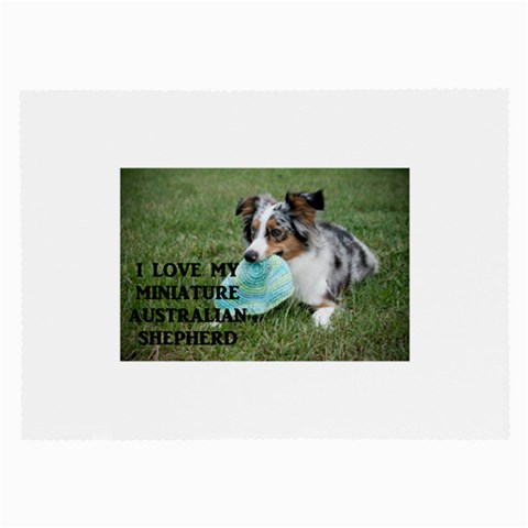 Blue Merle Miniature American Shepherd Love W Pic Large Glasses Cloth (2-Side)