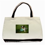 Blue Merle Miniature American Shepherd Love W Pic Basic Tote Bag (Two Sides) Back