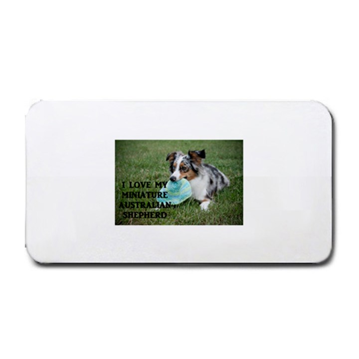 Blue Merle Miniature American Shepherd Love W Pic Medium Bar Mats