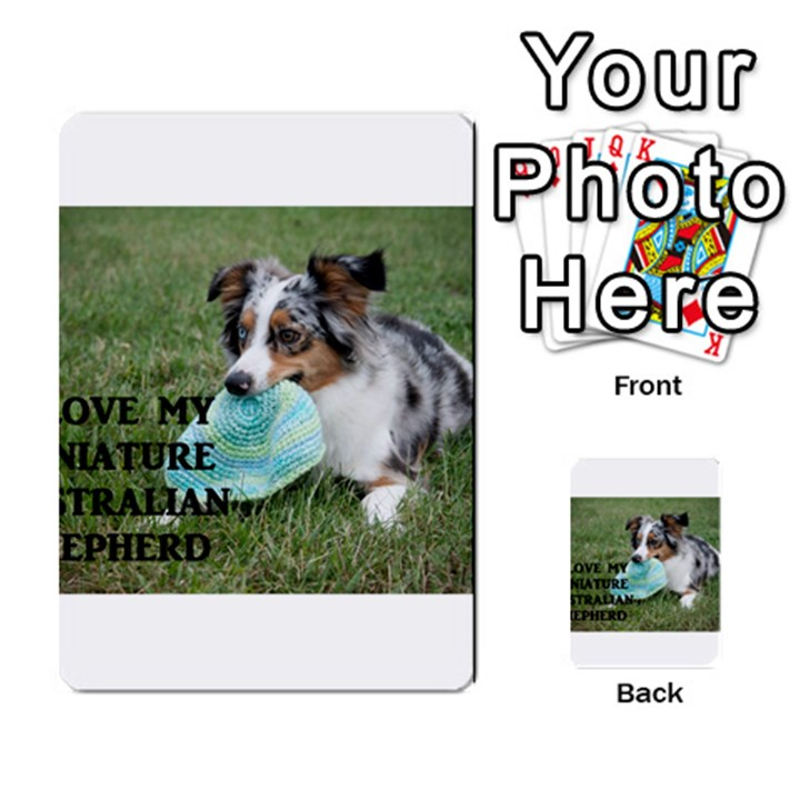 Blue Merle Miniature American Shepherd Love W Pic Multi-purpose Cards (Rectangle)