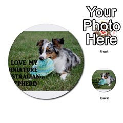 Blue Merle Miniature American Shepherd Love W Pic Multi-purpose Cards (Round)