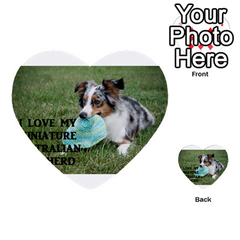 Blue Merle Miniature American Shepherd Love W Pic Multi-purpose Cards (Heart)