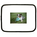 Blue Merle Miniature American Shepherd Love W Pic Netbook Case (Large) Front
